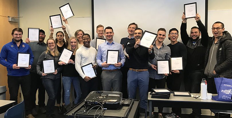Our 2018 management training graduates with their certificates