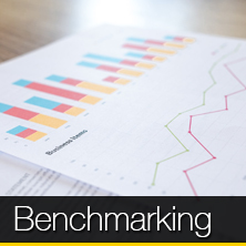 An image of bar charts and line graphs that links to our benchmarking page