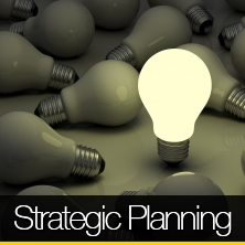 An image of a bright light bulb that links to our strategic planning page